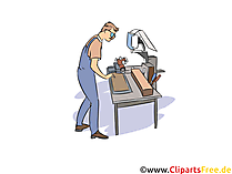 Produktionsmechaniker Clipart, Bild, Grafik zum Thema Ausbildungsberufe