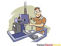Produktionstechnologe Clipart, Bild, Grafik zum Thema Ausbildungsberufe
