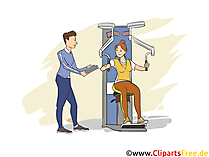 Sport und Fitnesskaufmann Clipart, Bild, Grafik zum Thema Ausbildungsberufe