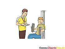 Sportlehrer Clipart, Bild, Grafik zum Thema Ausbildungsberufe