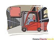 Staplerfahrer, Ameisenfahrer Clipart, Bild, Grafik zum Thema Ausbildungsberufe