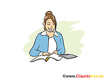 Steuerfachangestellter Clipart, Bild, Grafik zum Thema Ausbildungsberufe