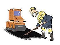 Straßenbauer Clipart, Bild, Grafik zum Thema Ausbildungsberufe