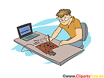 Systemelektroniker Clipart, Bild, Grafik zum Thema Ausbildungsberufe