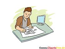 Systemplaner Clipart, Bild, Grafik zum Thema Ausbildungsberufe