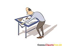 Technische Systemplaner Clipart, Bild, Grafik zum Thema Ausbildungsberufe