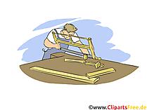 Tischler Clipart, Bild, Grafik zum Thema Ausbildungsberufe