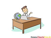 Tourismuskaufmann Clipart, Bild, Grafik zum Thema Ausbildungsberufe