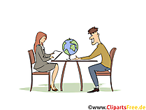 Touristikassistentin Clipart, Bild, Grafik zum Thema Ausbildungsberufe