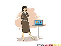 Veranstaltungskauffrau Clipart, Bild, Grafik zum Thema Ausbildungsberufe