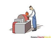 Verfahrensmechaniker für Beschichtungstechnik Clipart, Bild, Grafik zum Thema Ausbildungsberufe