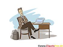 Versicherungskaufmann und Finanzen Clipart, Bild, Grafik zum Thema Ausbildungsberufe