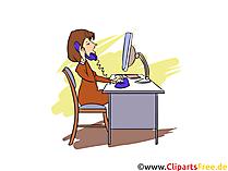 Verwaltungsfachangestellte Clipart, Bild, Grafik zum Thema Ausbildungsberufe