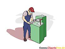 Zerspanungsmechaniker Clipart, Bild, Grafik zum Thema Ausbildungsberufe