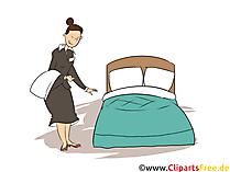 Zimmermädchen Clipart, Bild, Grafik zum Thema Ausbildungsberufe