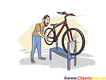 Zweiradmechaniker Clipart, Bild, Grafik zum Thema Ausbildungsberufe