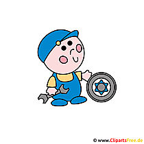 Auto Workshop Clipart Foto gratis