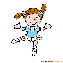 Ballerina afbeelding, Cartoon, Clipart gratis