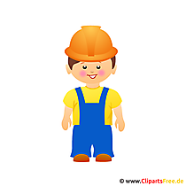 Bauarbeiter Cartoon Clipart gratis