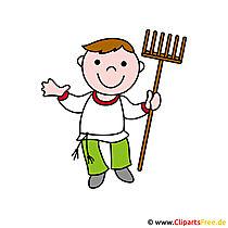 Boer cartoon afbeelding - beroepen foto's