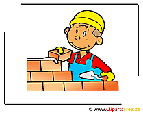 Baumeister Cartoon-Clipart free