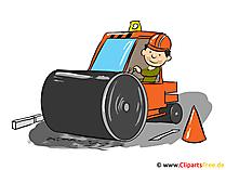 Byggarbets Clipart, tecknad film, bild, illustration gratis
