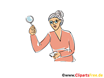 Bibliothecaris clipart en illustratie