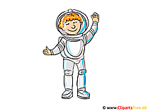 Pictures of Occupations - Austronaut Clipart