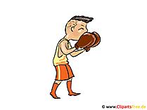 Boxer, utbildning, boxningsställningsbild, clipart, tecknad film