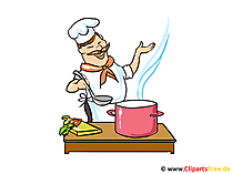 Cartoon chef clipart, image, image