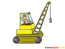 Clipart-graafwerktuig, bouwwerf, bouwer