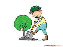Clipart tuinman gratis voor afdrukken
