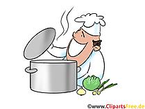 Clipart stockpot, kock, kök