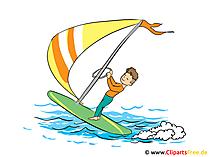 Clipart Windsurfen, vakantie, vrije tijd