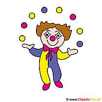 Clown Clipartafbeelding - beroepen beelden