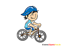 Comic Figuren Bilder zu Berufen - Radfahrer Bild