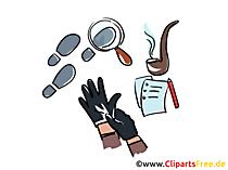 Detective-illustraties gratis