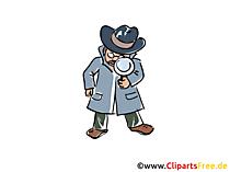 Detektivillustrationer och clipart