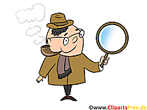 Detektive Illustrationen und Clip Art
