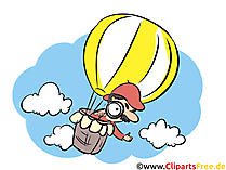 Heißluftballon Illustration, Bild, Comic, Cartoon