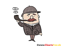 Sherlock Holmes Illustration, Comic, Cartoon