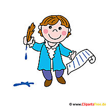 Poet, writer clipart image for free