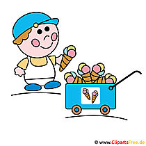 Ice Cream Seller Clipart - Ice Cream Cartoons afbeelding Cliparts