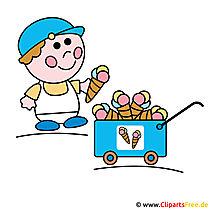 Eisverkäufer Clipart - Eiswagen Bild-Cliparts