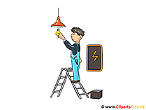 Electrician image, cartoon, clip art, graphic