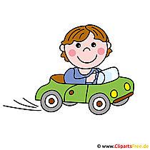 Fahrschule Cartoon Logo - Berufe Bilder kostenlos