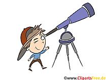 Teleskop, teleskopklipp, bild, grafik