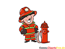 Feuerhwehrmann Cartoon, Illustration, Clipart, Bild