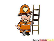 Feuerwehr EInsatzleiter Illustration, Clipart, Bild