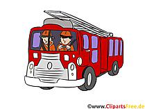 Feuerwehr Einsatzwagen Illustration, Clipart, Bild
